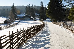 Mönichkirchen talvel (anuwintschalek) Tags: road schnee winter white mountain snow berg fence landscape austria strasse january zaun lumi weiss tee niederösterreich aed talv 2011 wechsel berggasthof valge 18200vr mägi schigebiet nikond90 mönichkirchen võõrastemaja mönichkirchenamwechsel