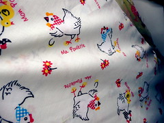 Chicken fabric (Scorpions and Centaurs) Tags: cute chicken design sewing craft kitsch hobby fabric novelty pettern makeityourself
