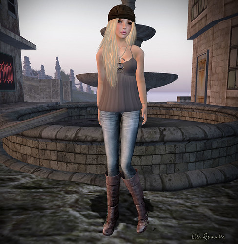 TRUTH Billie - Barley & Berries Loulou top - Chocolate_003