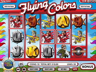 free Flying Colors slot scatters