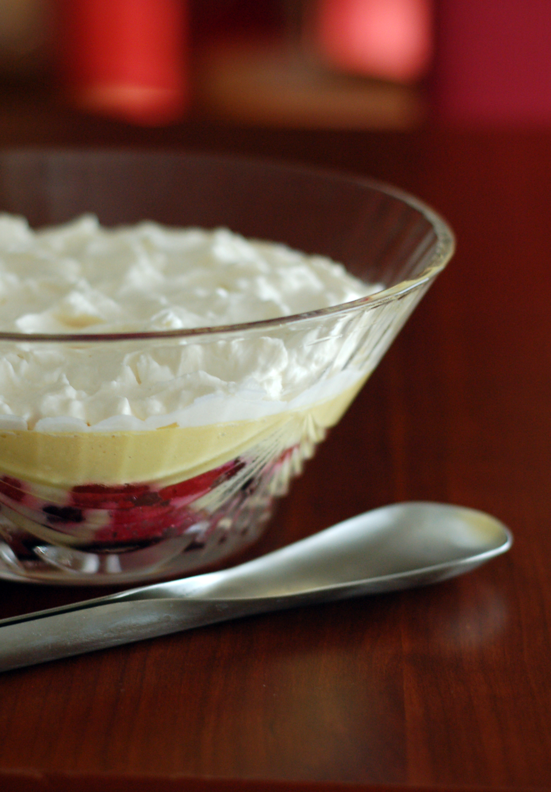 Trifle de mascarpone e morangos