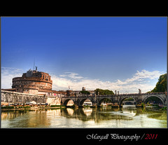 Castel Sant'Angelo in Rome - HDR - (Margall photography) Tags: rome roma water canon river photography fiume sigma ponte tiber tevere marco acqua 1020 hdr castel elio santangelo 30d mausoleo galletto margall