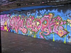 Graffiti & Skate Board Area - South Bank London (farg4graf) Tags: color colour london colors graveyard dead graffiti design artwork stencil shoes paint artist colours south bank tags aerosol skateboards skill bridge nozzles london south can bank cemetery millennium graveyard graffiti spray broken boards skate skateboard
