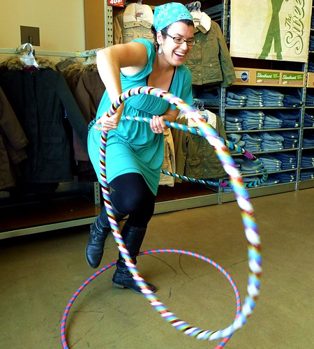 DDC Hooping at Old Navy