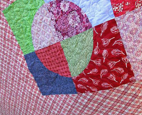 round quilt back