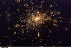 London at Night (NASA, International Space Station, 02/04/03)