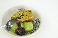 Amplification - Green Tea and Azuki Pound Cake + Green Tea Gelato + Azuki