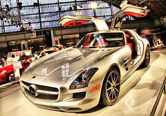 2010 Mercedes SLS AMG (Bill Boland Photography) Tags: auto show red black classic philadelphia car silver eos rebel mercedes benz super 63 mercedesbenz philly mm dslr 2009 coupe supercar 62 collector sls amg collectable 2010 30d 2011 18135 50d conon 40d 60d worldcars