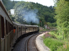 46115 'Scots Guardsman' at Kirkham Abbey. (Michael 43123) Tags: summer sun green abbey last high br with box royal august collection scot scarborough express ever signal spa scots semaphore 2010 kirkham lms in guardsman 46115