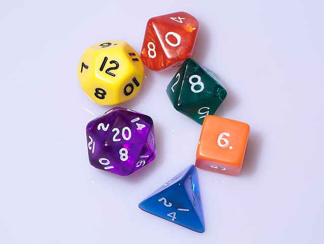 Typical role playing game dice