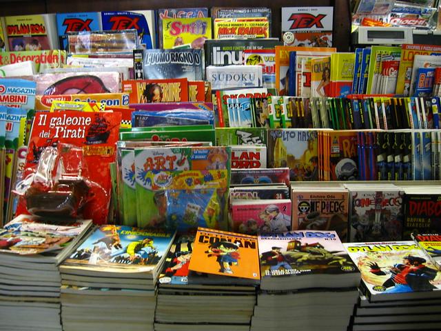 ヴェネツィアの本屋のフリー写真素材