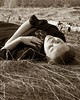 20090519_9999_66c (Fantasyfan.) Tags: woman girl smile grass topv111 tag3 taggedout sepia pose spring topv333 tag2 glare tag1 relaxing dry flame land lying tuija fantasyfanin