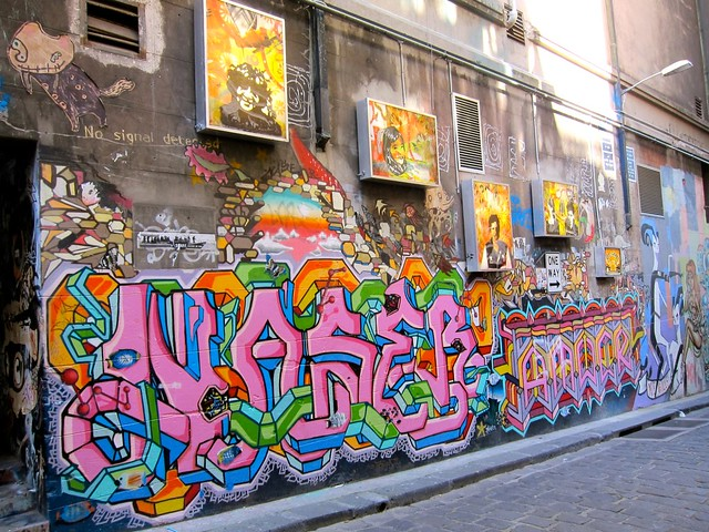 Graffiti Art Across From MoVida