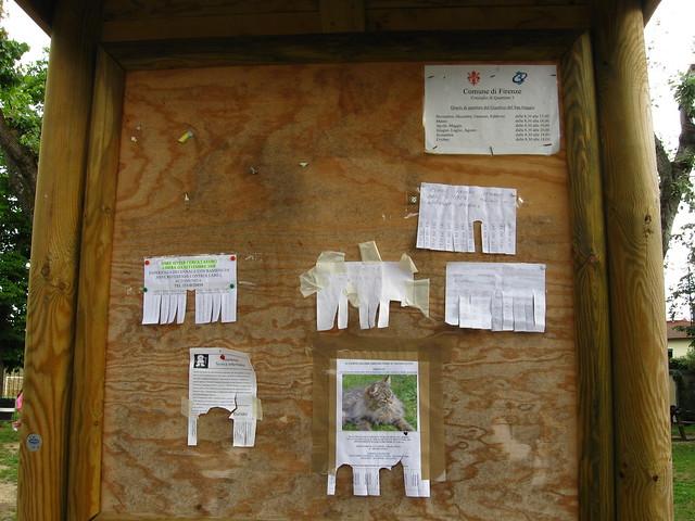 フィレンツェの掲示板のフリー写真素材