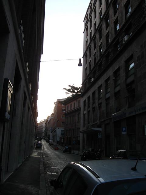 ローマの街角のフリー写真素材
