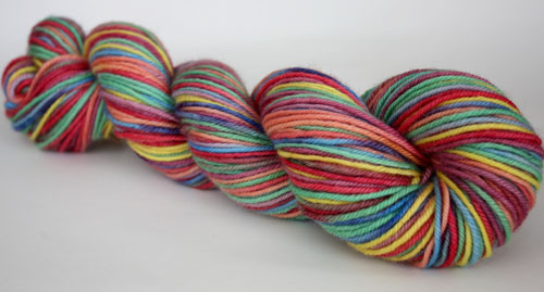 Love is...a single ~Rainbow~ on BFL worsted