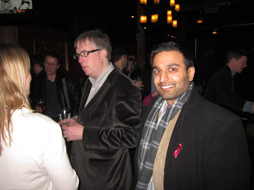 Ameet Wadhwani beside Mike Dover, co author of Wikibrands