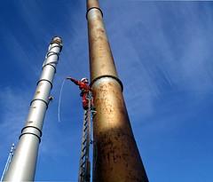 Errecting steeplejack ladders (39) (Craig Hannah) Tags: chimney work photography photos hannah bluesky rope images craig ladder job height career steeplejack abseil ropeaccess project365 fallarrest laddering steelchimney ropeaccesstechniques wirelashing imagesropeaccess ropeaccessphotos craighannah
