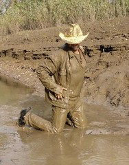 30 WS Cum enjoy this mud lubed feeling dudes (Wrangswet) Tags: men wet river spurs cowboy mud boots hiking hike jeans muddy wallowing wetlook wadding swimmingfullyclothed muddycowboy wetcowboy swimminginjeans mudwallow wetwranglerjeans wetwetlookhike