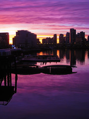 Report (rbrtwhite) Tags: pink blue winter sunset orange reflection tower water beautiful skyline vancouver clouds thevillage pier boat amazing dock mainstreet downtown dragon purple reporter seawall condo falsecreek southeast interview olympicvillage scienceworld athletesvillage sefc milleniumwater nicholsonroad thevillageonfalsecreek