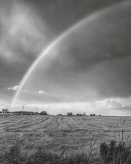 West Branch Rainbow quadtone (hz536n/George Thomas) Tags: summer sky bw rainbow lab michigan farm canon5d upnorth hdr 2010 quadtone smrgsbord photomatix labcolor ef1740mmf4lusm rianbow hdrphotomatix ogemawcounty blackwhitephotos cs5 photomatix40
