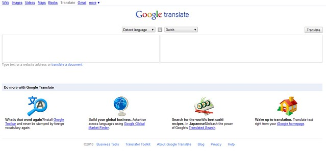 New layout Google Translate