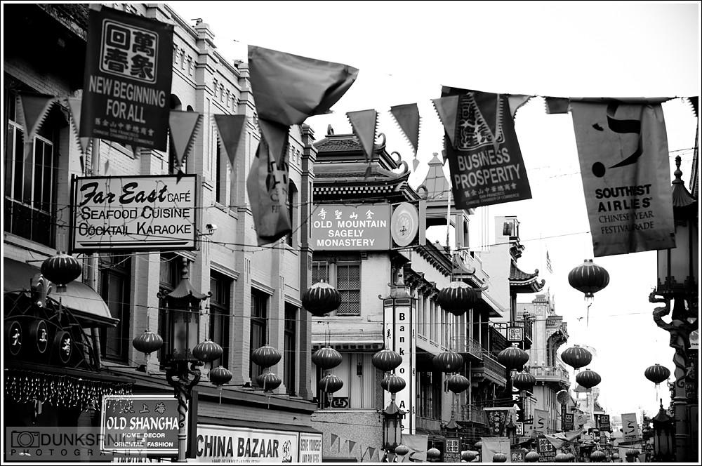 Chinatown, San Francisco B&W.