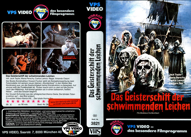 The Ghostship Of The Blind Dead (VHS Box Art)