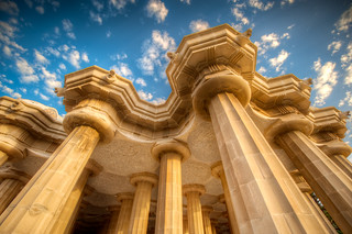 The Pillars of Guell - (HDR Barcelona, Spain)