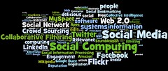 social media, social networking, social computing tag cloud (#2) [Photo by daniel_iversen] (CC BY-SA 3.0)