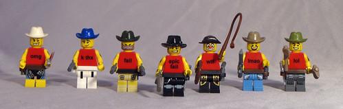 Custom minifig lolspeak cowboys gang