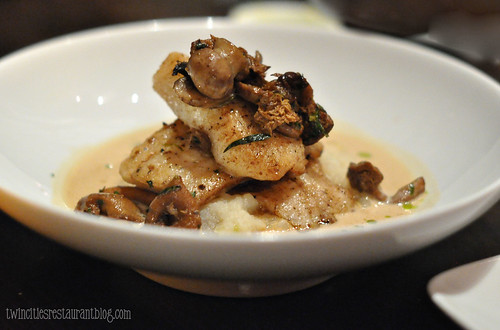 Walleye with Mushrooms in a Crayfish Sauce at Heartland ~ St Paul, MN
