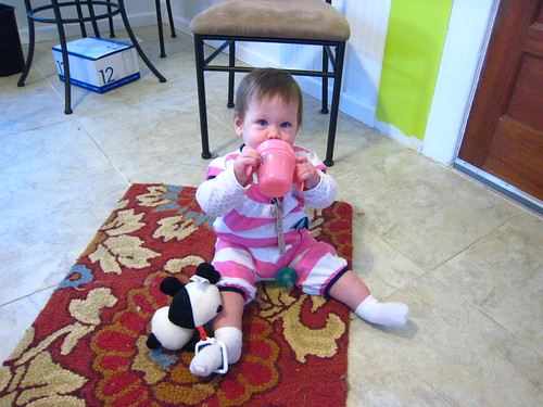 She drinks from sippy cups, too!