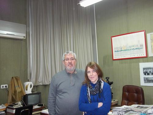 Dr Pérez Beltrán y Ana Pedregosa