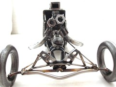 Metal Sculpture Dragster
