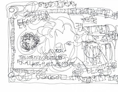 This Note Is Legal Tender For All Debts, Public And Private, #Draw365.49  © Julia Forsyth (JuliaForsythArt) Tags: money art drawing outsider andrewjackson sharpie blindcontourdrawing 20bill draw365 followart ©2011 juliaforsythart