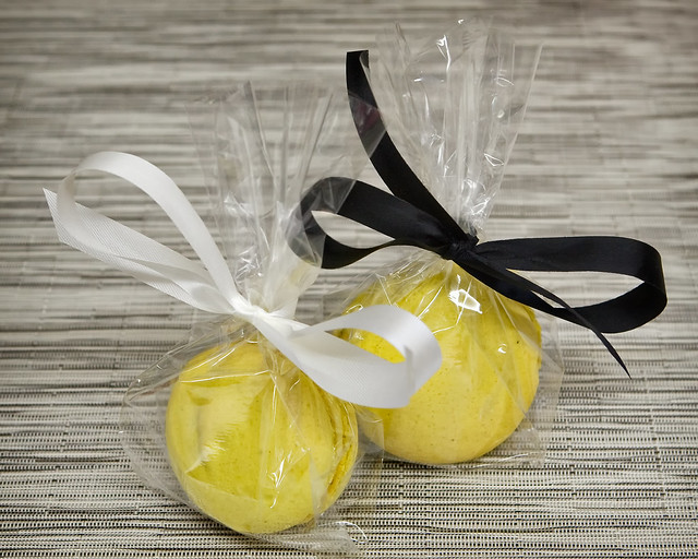 Lemon Macarons Packaged
