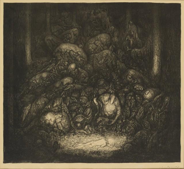 John Bauer - Root Trolls (Lithograph) 1917.jpg