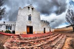 Laguna Mission Church (BongoInc) Tags: newmexico southwest church desert pueblo fisheye mission lagunapueblo