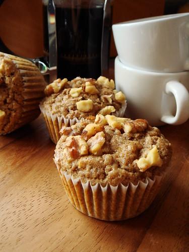 Espresso Banana Walnut Muffin