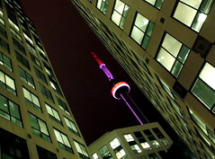 night towering (dmixo6) Tags: light urban toronto canada night angles edgy dugg dmixo6 dwcffurban