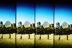 Super Pyramid (m+b) Tags: crossprocessed supersampler egypt pyramids giza spinx kodakelitechrome100 ebx thesphinx