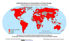 Scenario A2 in Year 2100 with Climate Sensitivity Equal to 5.5 Degrees C Annual Mean Temperature with Extreme Events Calibration and Enhanced Adaptive Capacity