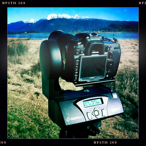 Beautiful day to be shooting a Gigapan in PoCo