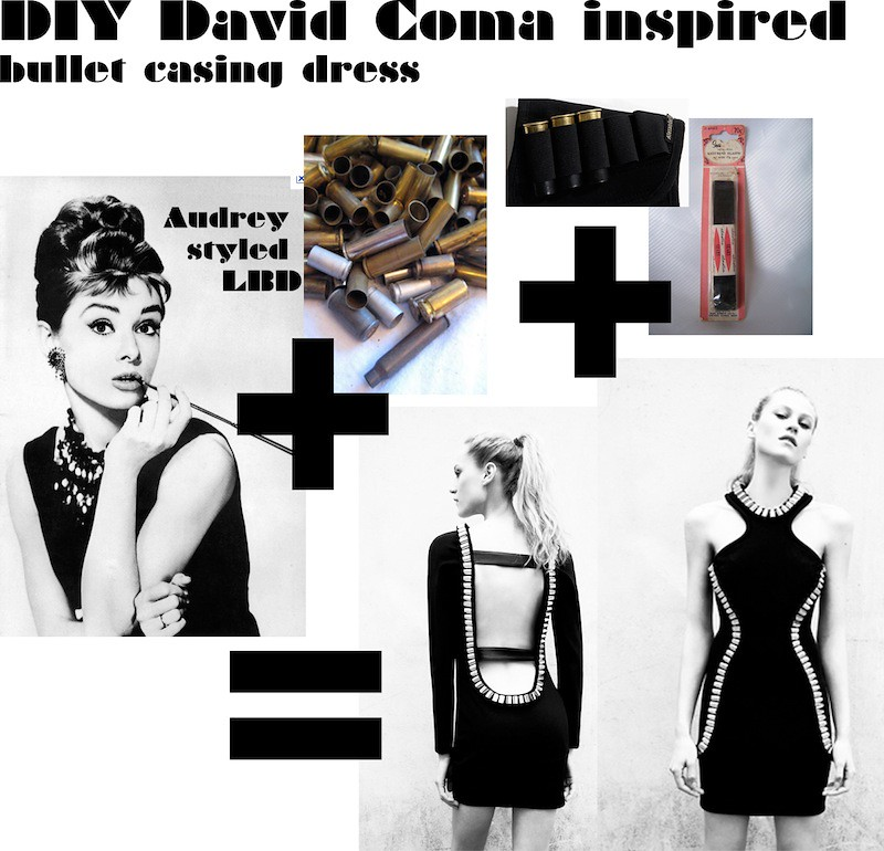 DIY David Coma inspired bullet casing dress LBD