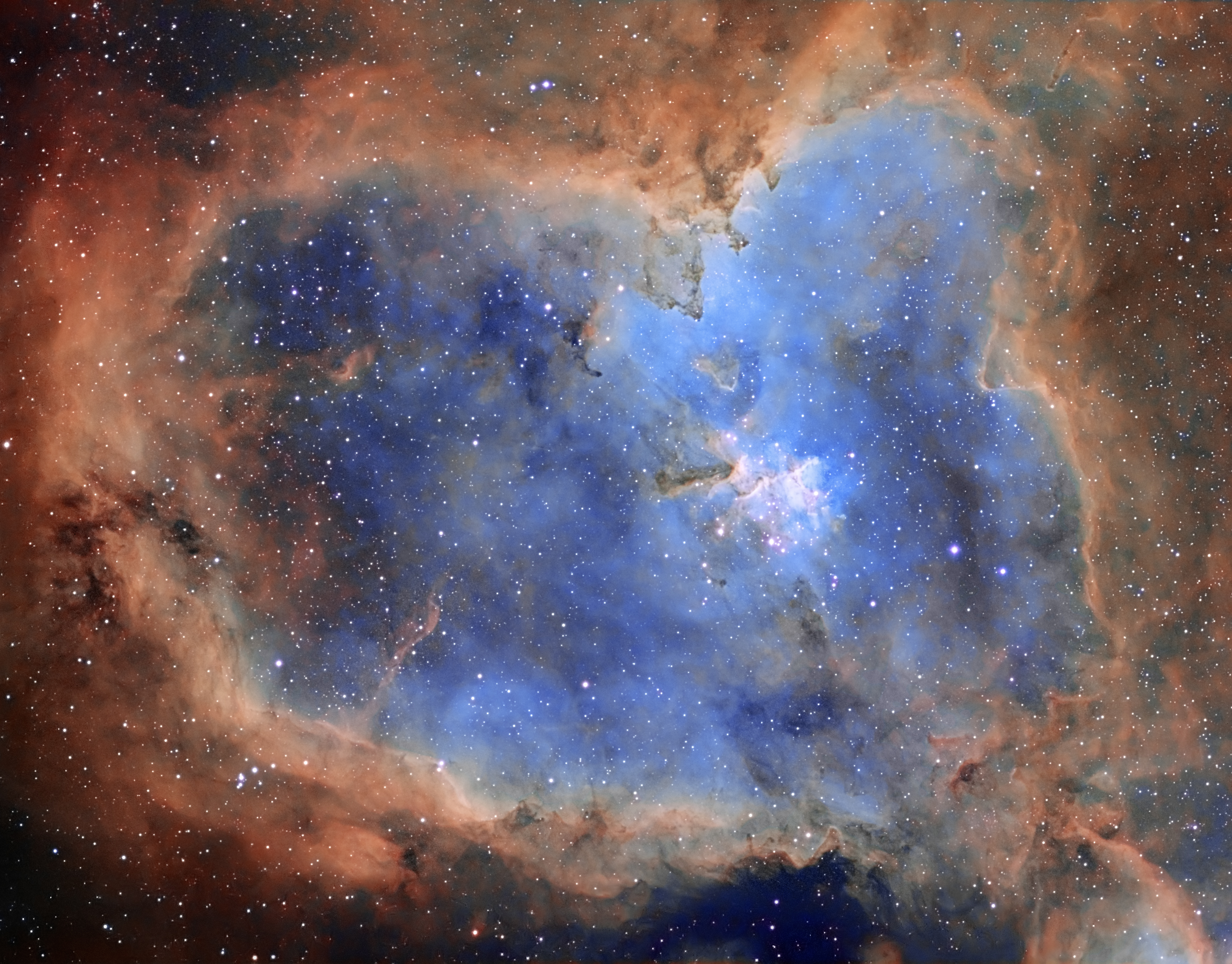 Ic 1805 Heart Nebula Hubble Palette Imaging Deep Sky