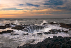 Thor's wrath (Damon D. Edwards Photography) Tags: ocean sunset nature water rock clouds oregon wonder outside outdoors interesting nikon rocks waves hole northwest earth or gorgeous awesome pit well pacificocean powerful pnw mothernature magichour us101 thegreatoutdoors naturallighting naturalphenomenon landscapephotography mk19 personalbest thegoldenhour centraloregoncoast waterandrocks cookschasm bestlight pacificnorthwestphotographer thorswell apassionforthepacificnorthwest damondedwards d90oregon