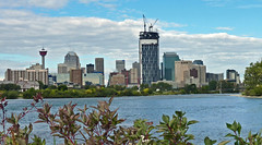 Calgary (njchow82) Tags: calgary home skyline buildings landscape downtown cityscape scenic shrubs bowriver highrises calgarytower beautifulexpression njchow82 arethesebuildings dmcfz35 bowbuilding ranked5thintheeconomistsannualreport