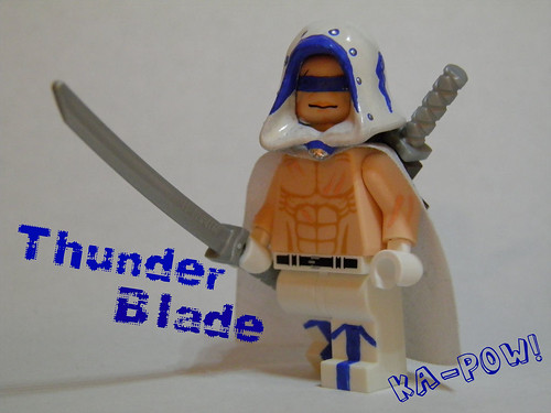 Custom minifig Ka-Pow! Superhero Build Contest Entry: Thunder Blade