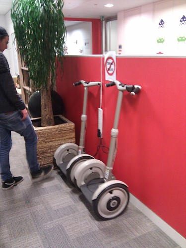 Yeah thats right, we have segways.